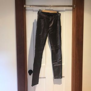 NWT 7 for all Mankind metallic skinny jean
